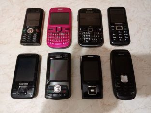 8 Mobiles phones for 100 Eur