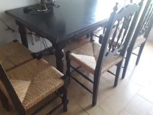 Dining table with 5 chairs